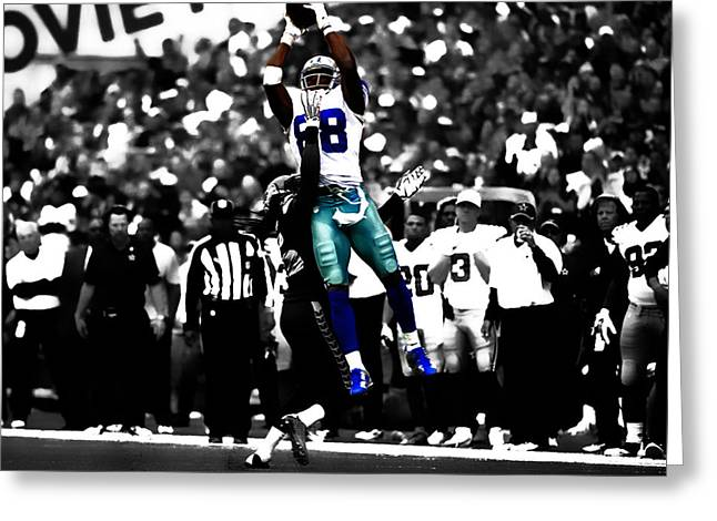 Dez Bryant Greeting Card by Brian Reaves