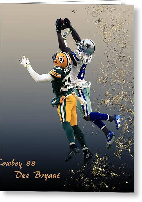 Bryant Greeting Cards - Dez Bryant Greeting Card by Dennis Wickerink