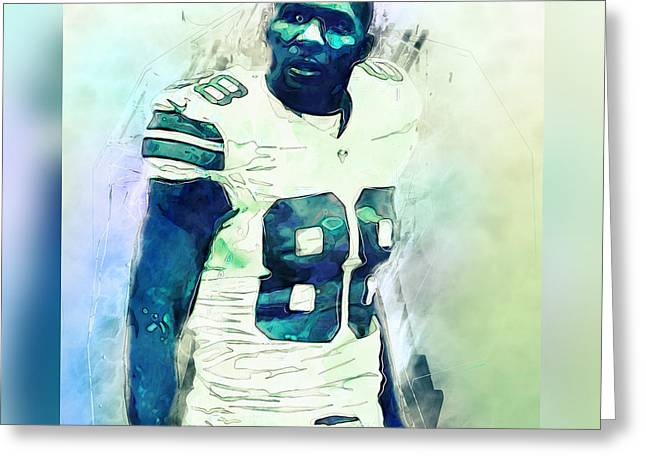 Bryant Greeting Cards - Dez Bryant Greeting Card by Mario Aguilar