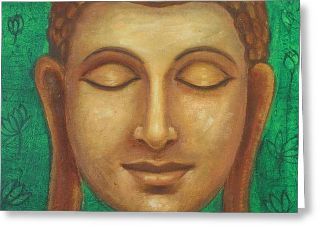 Dhyana Buddha Greeting Card by Nayna Tuli Fineart