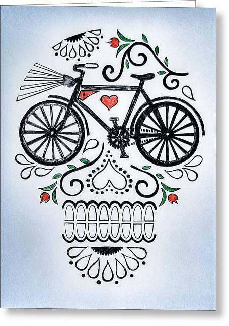 Biking Greeting Cards - Muertocicleta Greeting Card by John Parish
