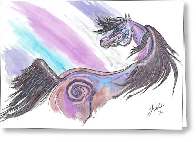 The Horse Greeting Cards - Dia De Los Muertos Untouchable Greeting Card by Laureen Kent