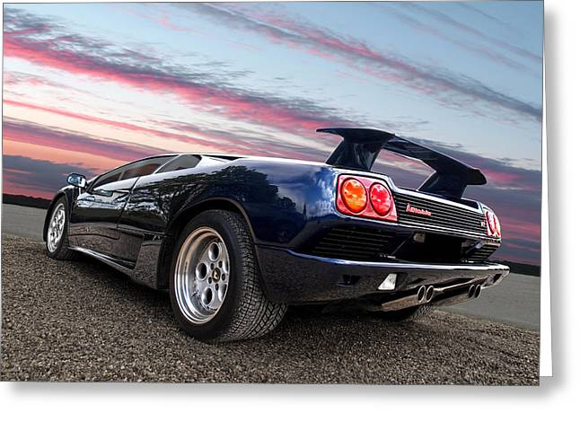 Powerful Car Greeting Cards - Diablo At Sunset Greeting Card by Gill Billington