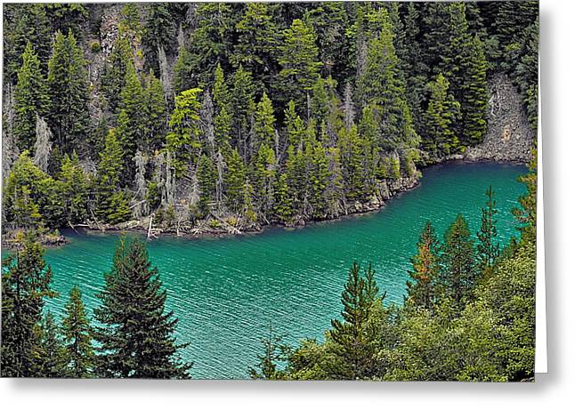 Vacations Greeting Cards - Diabolo Lake North Cascades NP WA Greeting Card by Christine Till