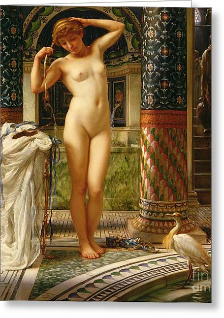 Recently Sold -  - Female Body Greeting Cards - Diadumene Greeting Card by Sir Edward John Poynter