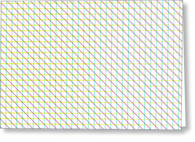 Cushion Greeting Cards - Diagonal Lines Greeting Card by Lena Kouneva