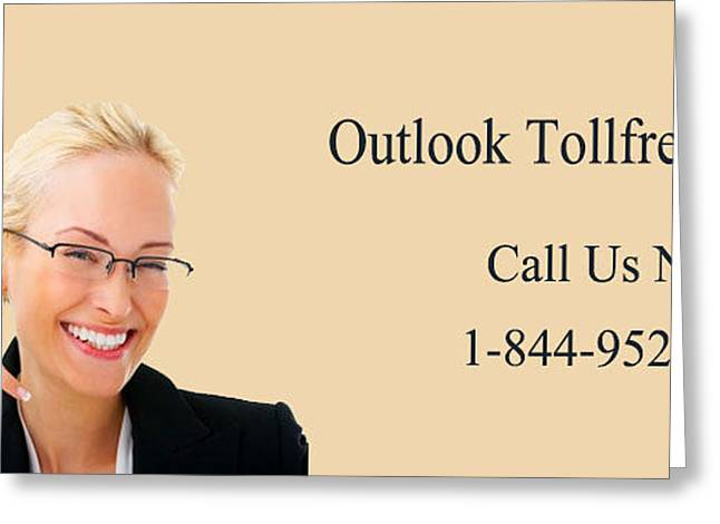 Outlook Greeting Cards - Dial Outlook Toll free Helpline Number  Greeting Card by Katharine Isabella