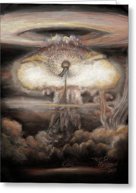 Flower Bombs Greeting Cards - Dialectic Destruction is Creation Greeting Card by Dennis Jones