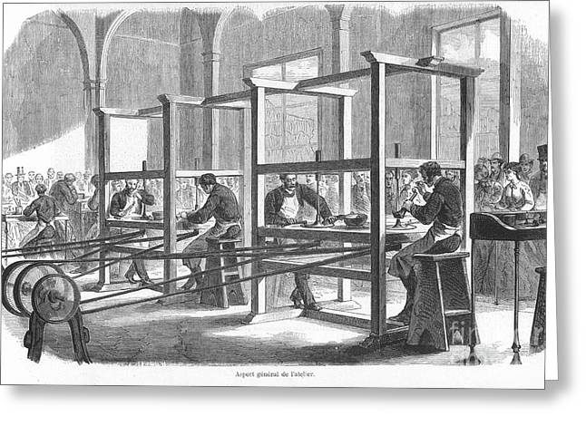 1867 Greeting Cards - Diamond Cutters, 1867 Greeting Card by Granger