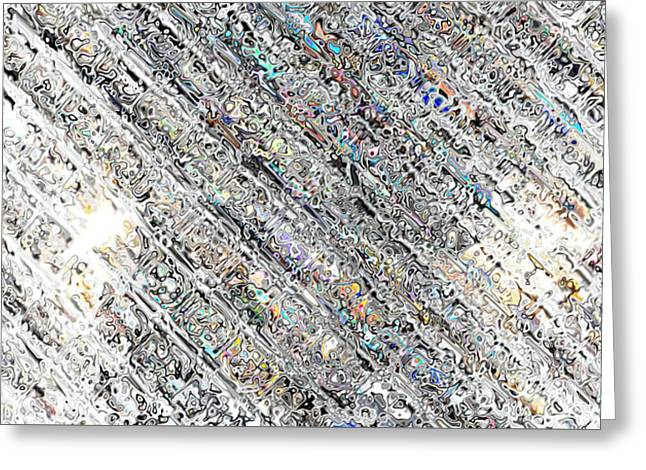 Dappled Light Mixed Media Greeting Cards - Diamond Division Abstract Greeting Card by Mary Clanahan