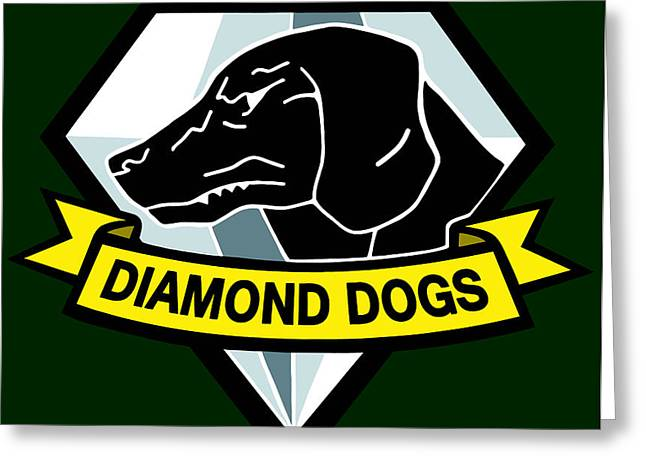 Diamond Dogs Greeting Card by Billi Vhito
