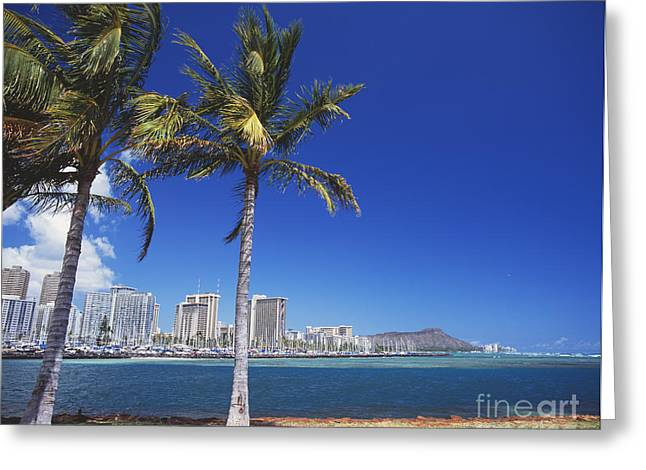Ala Moana Greeting Cards - Diamond head Greeting Card by Kyle Rothenborg - Printscapes