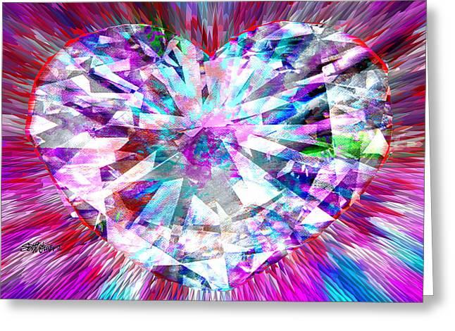 Seth Weaver Greeting Cards - Diamond Heart Greeting Card by Seth Weaver