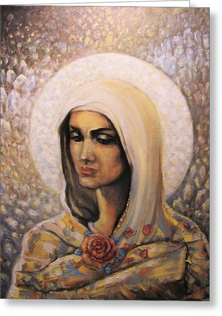 Will Power Paintings Greeting Cards - Diamond Maria Greeting Card by Aleksei Gorbenko