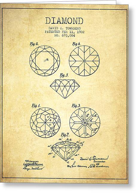 Diamond Patent From 1902 - Vintage Greeting Card by Aged Pixel