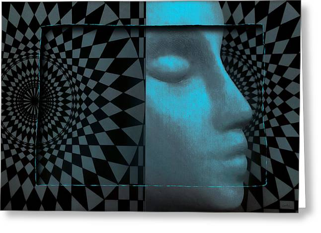 Visionaries Designs Greeting Cards - Diamond Shadow 1 Greeting Card by Jeff  Gettis