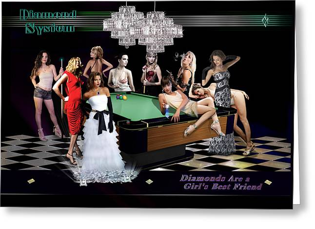 9ball Greeting Cards - Diamond System Greeting Card by Draw Shots