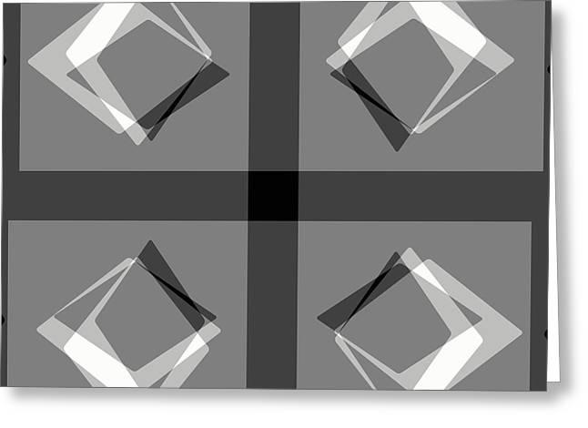 Geometrical Art Greeting Cards - Diamonds Geometric Greeting Card by David G Paul