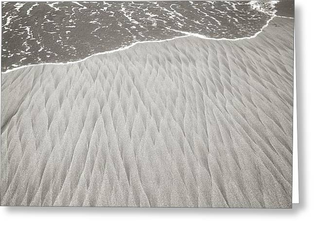 Sand Pattern Greeting Cards - Diamonds In Its Wake Greeting Card by Colleen Williams