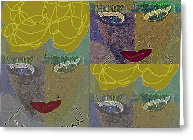 Bestfriend Greeting Cards - Dianne  Greeting Card by Sharon Ann Calvo