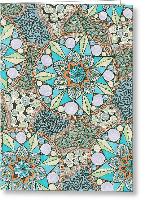 Diatom Greeting Card by Jan Jenkins