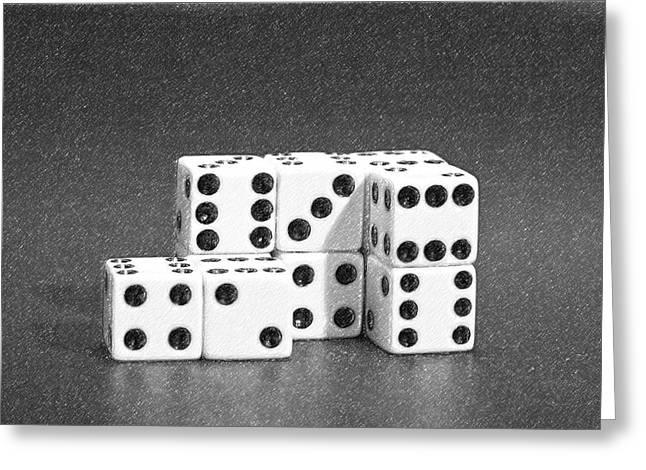 Dice Cubes II Greeting Card by Tom Mc Nemar
