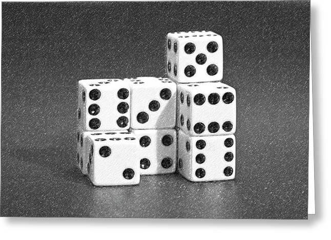 Dice Greeting Cards - Dice Cubes III Greeting Card by Tom Mc Nemar