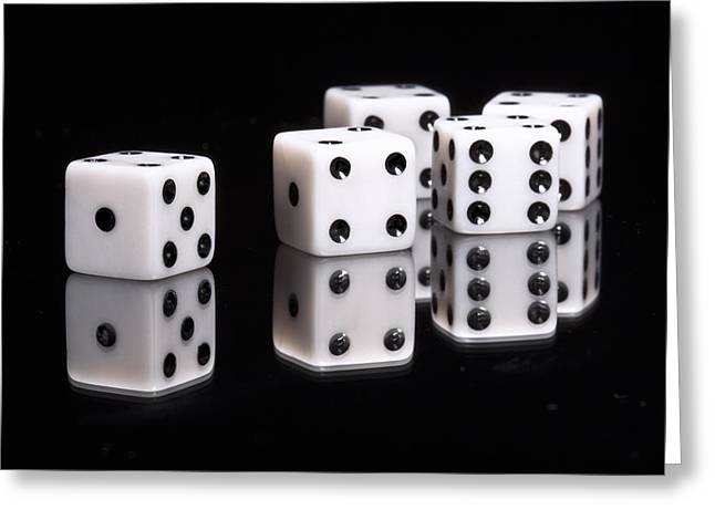 Dice II Greeting Card by Tom Mc Nemar