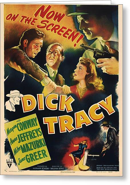 1940s Movies Greeting Cards - Dick Tracy 1945 Greeting Card by Mountain Dreams