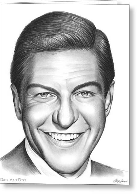 Dick Van Dyke Greeting Card by Greg Joens