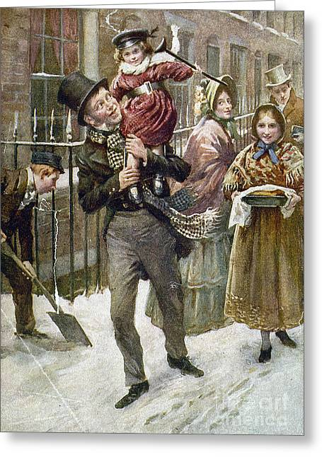 Carry Paintings Greeting Cards - Dickens: A Christmas Carol Greeting Card by Granger