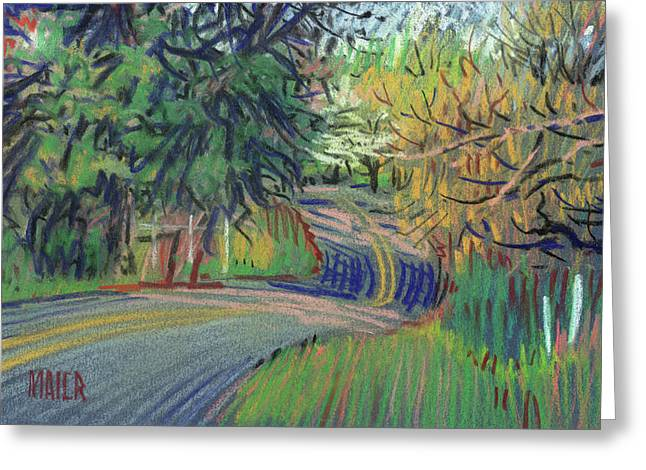 Country Pastels Greeting Cards - Dickson Road Greeting Card by Donald Maier