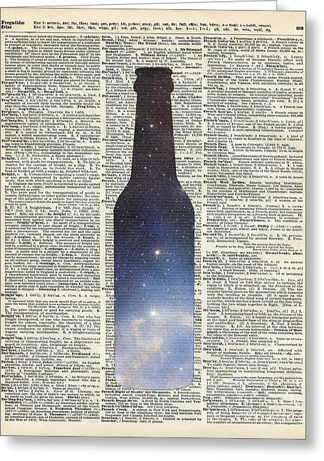 Upcycle Greeting Cards - Dictionary Art - Magic Beer Greeting Card by Jacob Kuch