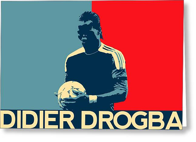 Chelsea Digital Art Greeting Cards - Didier Drogba Greeting Card by Semih Yurdabak