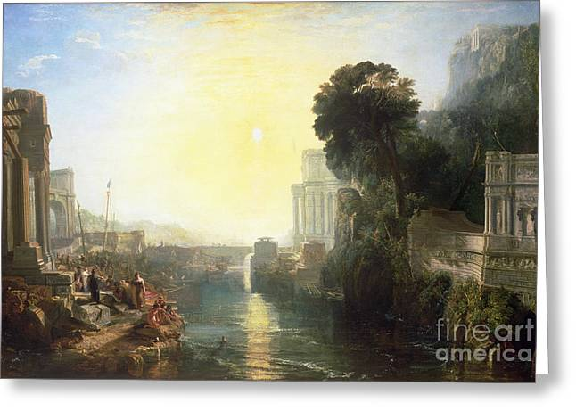 Tunisia Greeting Cards - Dido building Carthage Greeting Card by Joseph Mallord William Turner