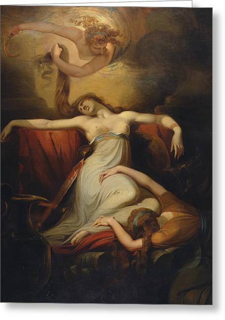Swiss Paintings Greeting Cards - Dido  Greeting Card by Henry Fuseli