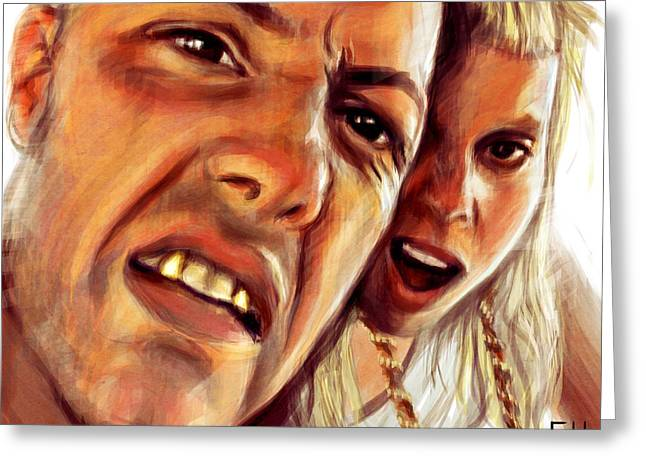 South Africa Greeting Cards - Die Antwoord Greeting Card by Fay Helfer