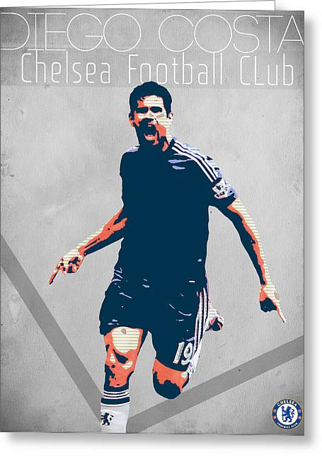 Chelsea Digital Art Greeting Cards - Diego Costa Greeting Card by Semih Yurdabak