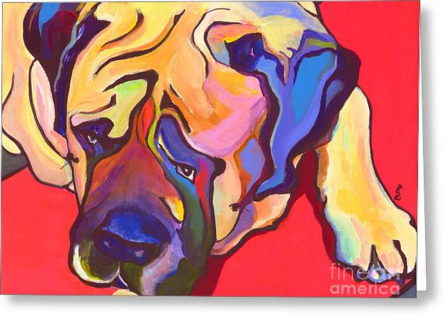 English Mastiff Greeting Cards - Diesel   Greeting Card by Pat Saunders-White