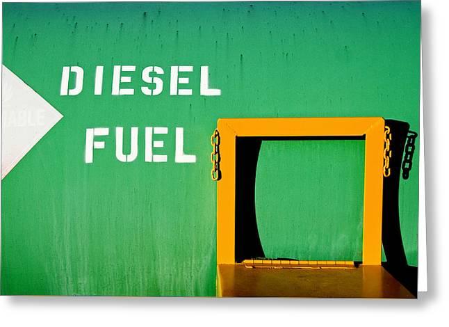 Diesel Green Greeting Card by Todd Klassy
