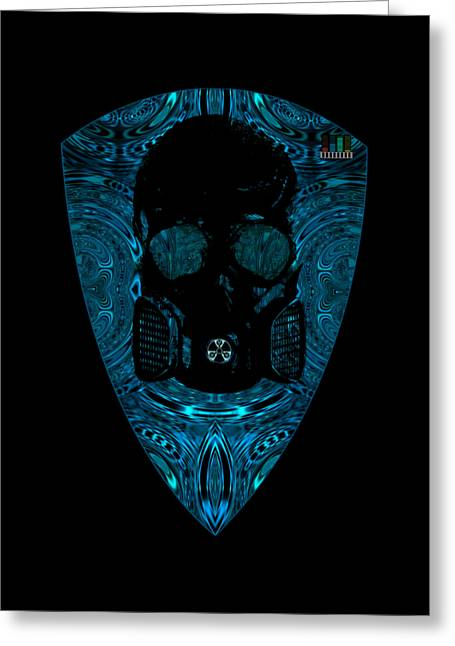 Game Greeting Cards - Diesel Mutant blues Greeting Card by Randolph Ping