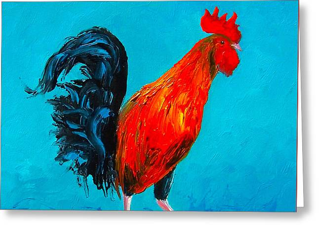 Animal Art Greeting Cards - Digby the Rooster Greeting Card by Jan Matson