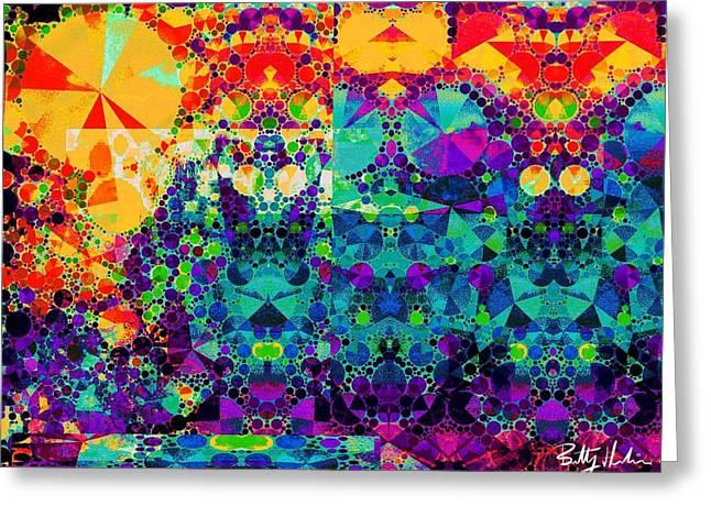 Geometric Artwork Greeting Cards - Digi 40 Greeting Card by Brittany Houchin