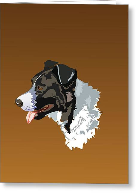 Abstract Shapes Greeting Cards - Digi-Dog Greeting Card by Tim Rampy