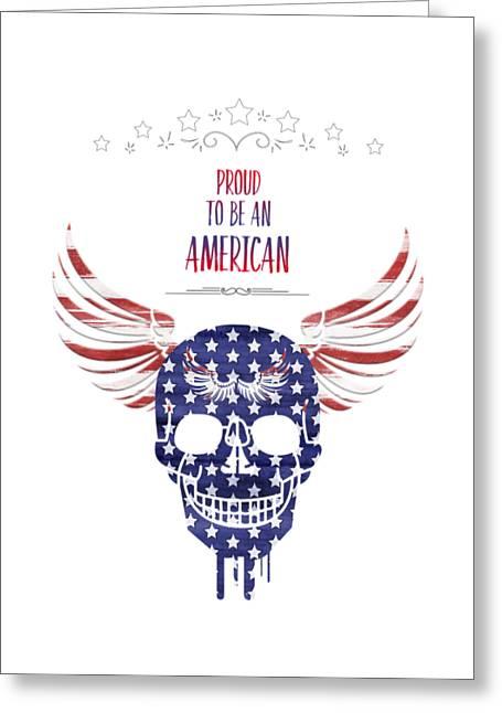 4th July Greeting Cards - Digital-Art Patriotism Greeting Card by Melanie Viola