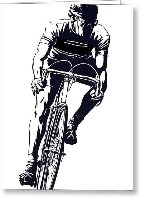 Digital Cyclist Greeting Card by Daniel Hagerman