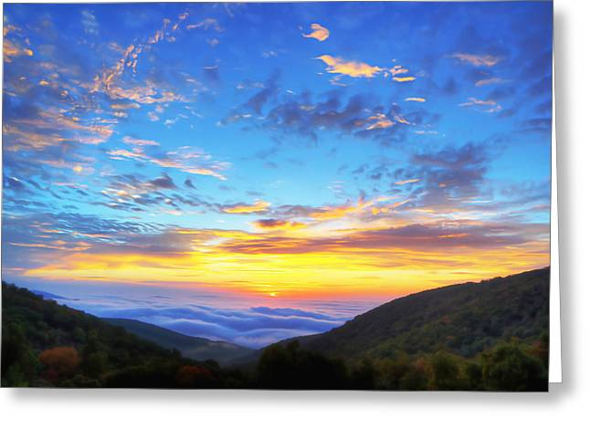 Mountains Digital Greeting Cards - Digital Liquid - Good Morning Virginia Greeting Card by Metro DC Photography