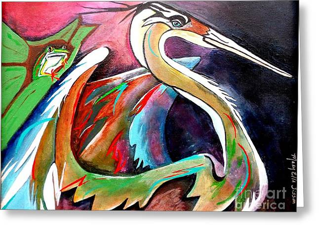 Fanatic Paintings Greeting Cards - Dignified Greeting Card by Mary Sisson