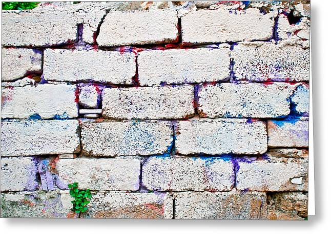 Stonewall Greeting Cards - Dilapidated brick wall Greeting Card by Tom Gowanlock