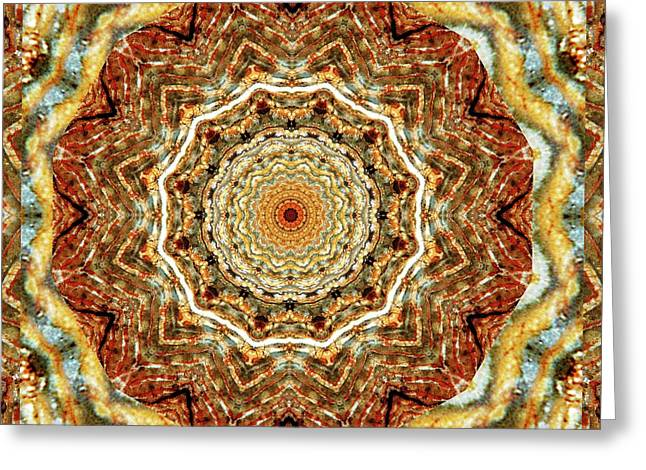 Sacred Geometry Photographs Greeting Cards - Dimensity Greeting Card by Bell And Todd